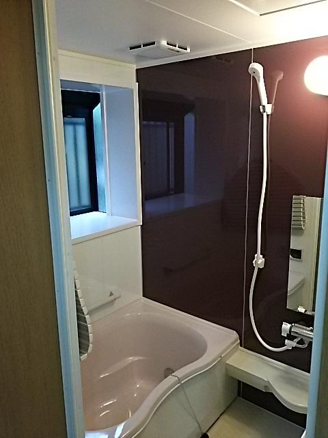 シンプルモダン浴室リフォーム 埼玉県越谷市 施工後